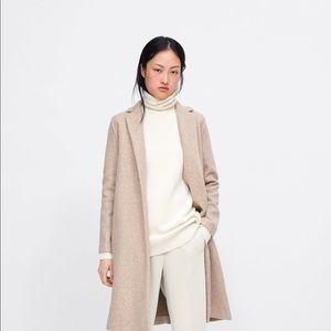 Zara Size XL Menswear Coat Sand Marled  NWT